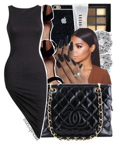"""""""1043   little black dress contest."""" by yeauxbriana ❤ liked on Polyvore featuring Maybelline, Bobbi Brown Cosmetics, Effy Jewelry, Jeffrey Campbell and Chanel"""