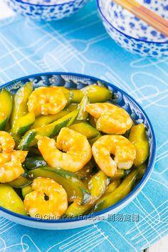 韓國辣椒醬炒青瓜蝦仁 Stir-Fried Prawns and Cucumber with Korean  Chilli Paste01