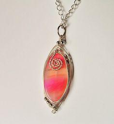 """by SHINE """"ŚWIT"""" WISIOR wire wrapping z agatem w  Biżuteria ze Szczyptą  Magii * by SHINE na DaWanda.com"""