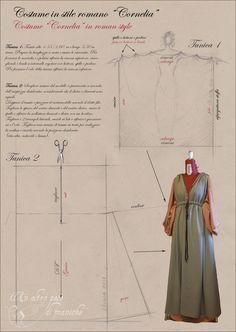 Roman inspired dress pattern.