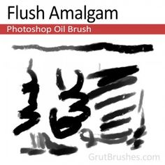 """Flush Amalgam"" - Photoshop Oil BrushA rich buttery oil brush with a variable transparency and width. Photoshop Cs5, Photoshop Brushes, Oil Brush, Artist Brush, Paint Brushes, Art Studios, Cool Photos, Graphic Design, Illustrator"