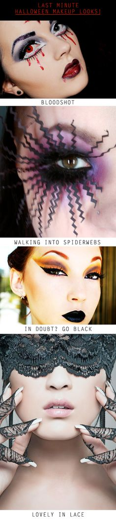 Last Minute Halloween Makeup Ideas - Hallowen Makeup Tutorial Halloween Cosplay, Halloween Make Up, Halloween Face, Halloween Ideas, Halloween Costumes, Make Up Art, Eye Make Up, Makeup Inspiration, Makeup Ideas
