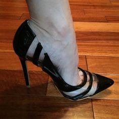 "Brand New in box Gorgeous black size 8 heels Shoe Republic LA style ""Selma"" Black with clear design. Pointed toe. A nice twist on a black heel! Shoe Republic La Shoes Heels"
