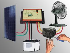 How to Set Up a Small Solar (Photovoltaic) Power Generator. The goal of this article is to show how to set up a small solar power generator. While there are a lot of decisions you can make, this particular how to focuses on small-scale. Solar Energy Panels, Solar Panels For Home, Best Solar Panels, Small Solar Panels, Building A Wind Turbine, Alternative Energie, Solar Heater, Solar Generator, Solar Projects