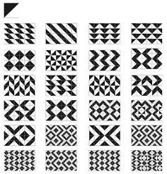 Aloísio Magalhães se vale de recursos modulares para criar padrões visuais capazes de quebrar a monotonia de uma simples inversão da direção dos cartões. Como recurso adicional, se apropria dos módulos de Munari (1997) para criar os padrões visuais (acima).