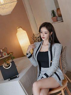 Korean Dress, Korean Outfits, Sexy Outfits, Cute Outfits, Cute Asian Girls, Cute Girls, Cool Girl, Beautiful Asian Women, Beautiful Models