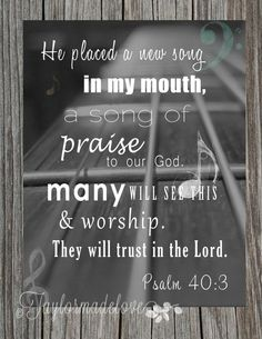 Be Praiseful (Psalm 40)