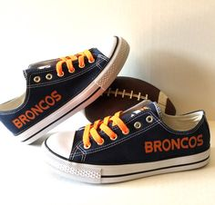 Hey, I found this really awesome Etsy listing at https://www.etsy.com/listing/248176895/denver-broncos-womens-athletic-shoes