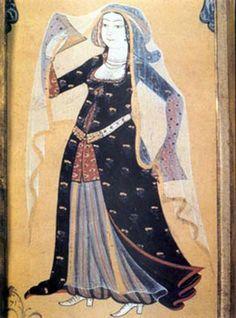 Historical Costume, Historical Clothing, Women's Clothing, Les Balkans, Empire Ottoman, Arabian Nights, Illuminated Manuscript, 15th Century, Islamic Art