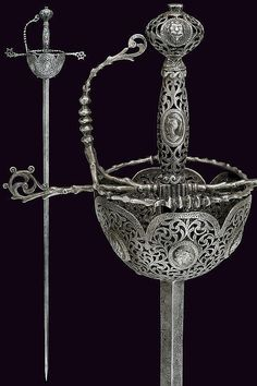 A beautiful cup-hilt sword in 17th Century style, Italy 19th century.