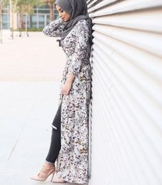 long lace cardigan hijab chic