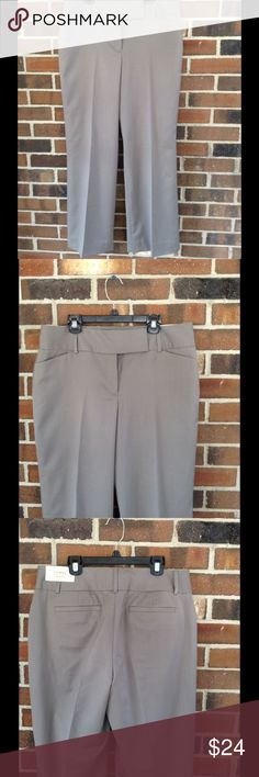 8 Ann Taylor Curvy Fit New with tag, Ann Taylor curvy fit trousers. Fully lined, front pockets, back mock pockets. Gray pin striped. Size: 8 / waist: 33 / hips: 42 / rise: 10.5 / inseam: 29.5 Ann Taylor Pants Boot Cut & Flare