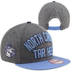 check out bc9ef 6978b New Era North Carolina Tar Heels (UNC) Emphasized Snapback Hat - Gray