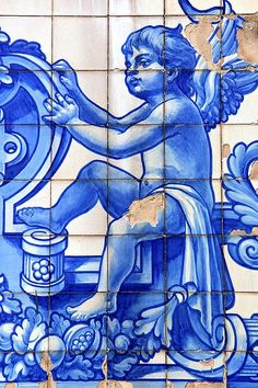 Tiled Angel in Porto, Portugal.  Photo by Per Lidvall  www.AspectusForma.com