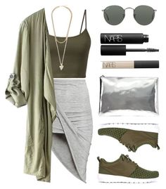 """Greens"" by baludna ❤ liked on Polyvore featuring H&M, Ray-Ban, Givenchy, NIKE, AB A Brand Apart and NARS Cosmetics"