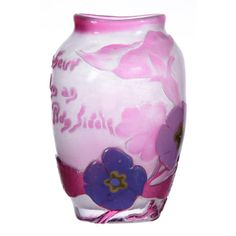 Extremely Rare! 5.5'; Signed Galle Art Glass Vase
