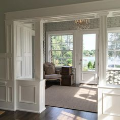 """gregriegler: """" Entry way with nice light this morning at a clients house in East Hill."""""""