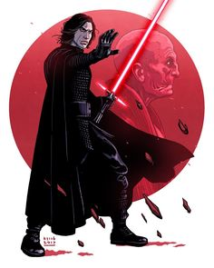 Kylo Ren   Star Wars: The Last Jedi   #starwars #starwarsart #starwarsfanart #thelastjedi #kyloren #bensolo #reylo #snoke