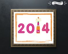 New Year's Eve Printable 2014 Party Decor 8x10 by PrintPunch