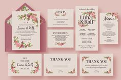 Floral Wedding Invitation Suite by Knotted Design on Creative Market