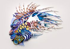 Yulia Brodskaya  Texture and pattern created by quilling paper
