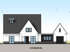 Modern landelijke villa met bijgebouw - voorgevel