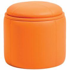Orange Ottoman with Storage