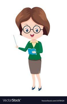 Woman Teacher vector image on VectorStock