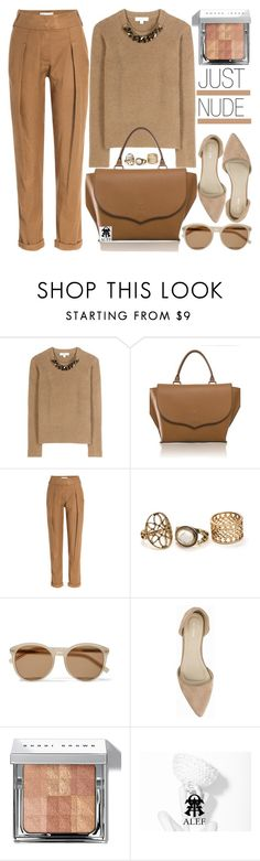"""""""JUST NUDE"""" by vanjazivadinovic ❤ liked on Polyvore featuring Burberry, Donna Karan, Yves Saint Laurent, Nly Shoes, Bobbi Brown Cosmetics, nude, polyvoreeditorial and alef"""