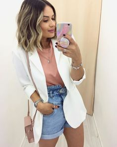 110 fashion trends that we stole from the early 7 Casual Chic, Casual Sporty Outfits, Short Outfits, Classy Outfits, Chic Outfits, Spring Outfits, Fashion Outfits, Fashion Trends, Blazer Fashion