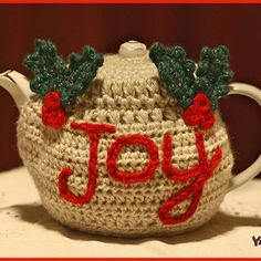 The Joyful Teapot Cozy video tutorial and written pattern are available on my website right now! Check it out! Link in bio! This makes such a lovely gift idea. Wrapped around a vintage teapot and filled with specialty teas, this would go far in making someone's holiday tea-rrific! ❤ Nadia  #crochet #crocheted #yarn #yarnutopia #handmade #fancy #365daysofgrannysquares #365days #yearlongproject #yearlong #granny #grannysquares #grannysquare #redheartyarns #crochetersofinstagram #holidays