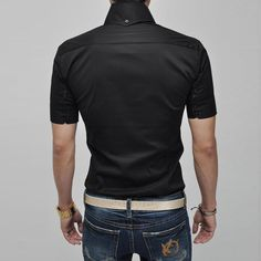 Slim Fit Short Sleeve Casual Shirt | Sprence