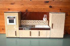 Vintage Antique MARTIN FUCHS Tin Doll's House Dollhouse by Mdvanii