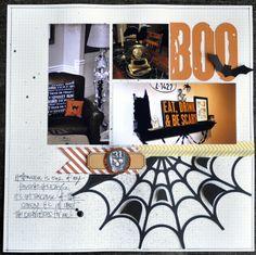 #papercraft #Halloween #scrapbook #layout