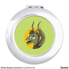 Green dragon cartoon makeup mirror
