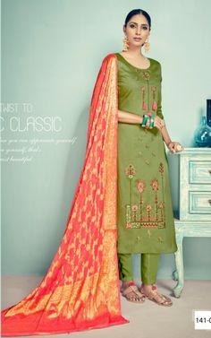 71e67aade5 Belliza Banaras Pure Jam Silk Suits (5 pc catalog) Silk Suit, Suits 5
