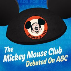 On October 3, 1955, The Mickey Mouse Club debuted on ABC.