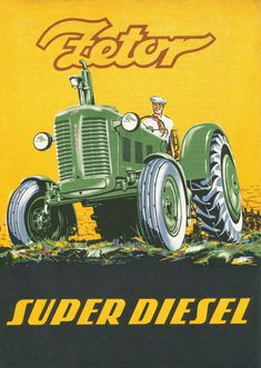 MOTOKOV Poster ZETOR (1961) | Flickr - Photo Sharing! Chevy Trucks Older, Farm Trucks, Lifted Chevy Trucks, Lifted Ford Trucks, Pickup Trucks, Vintage Tractors, Old Tractors, Vintage Farm, Lanz Bulldog