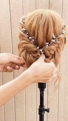 Romantic Wedding Hair, Wedding Hair And Makeup, Wedding Updo, Hair Makeup, Whimsical Wedding Hair, Wedding Shot, Wedding Music, Boho Wedding, Wedding Reception