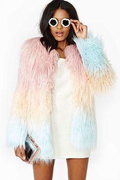 American Retro Marjo Faux Fur Coat…