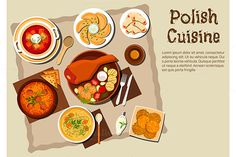 Polish national cuisine dishes by seamartini on @creativemarket