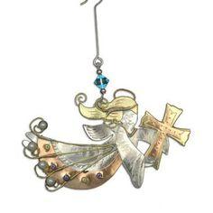 Cross Angel Christmas Ornament – ChristianGiftsPlace.com Online Store