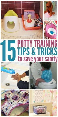 15 Potty Training Tips to Save Your Sanity. Best potty training tips and tricks.