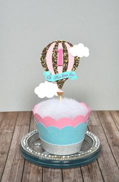 how the time flies...Great for 1st birthday party or any hot air balloon theme event