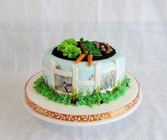 Peter Rabbit - Edible images and fondant/gumpaste veggies