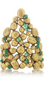 Aurélie BidermannCités d'Or 18-karat gold-plated cluster cuff