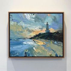 """Lighthouse at Point Lonsdale"" went to its new owner this week. I'm a sucker for a good lighthouse. Landscape Art, Landscape Paintings, Lighthouse Painting, Sky Art, Seascape Paintings, Painting Inspiration, Modern Art, Collage, Palette Knife"