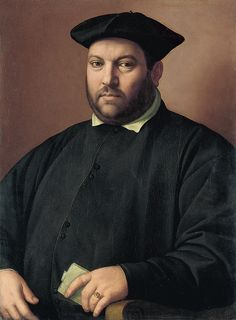 Ghirlandaio, Ridolfo - Portrait of a Nobleman of the Capponi Family. c.1555 | da ros_with_a_prince