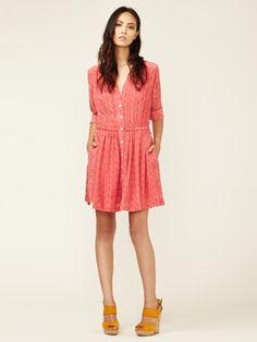 Thakoon Addition Silk Button Front Shirtdress