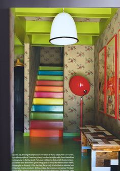 Painted stairs ideas. Perhaps leading into a playroom basement